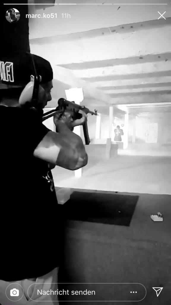 """""""Marc"""", Maximilian Andreas und Leon Ringl in Shirts von Knockout 51 beim Schießtraining in Tschechien"""